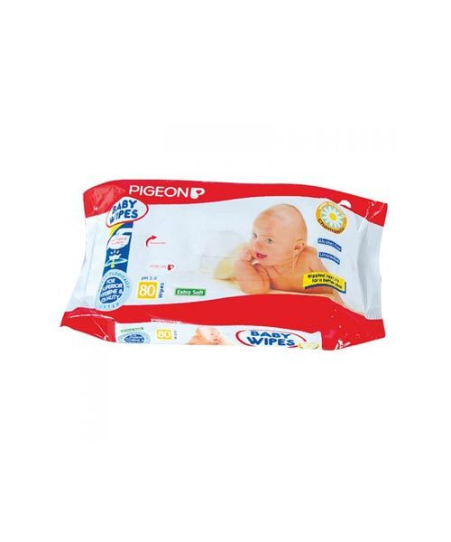 Pigeon Baby Wipes Chamomile 80 Sheets