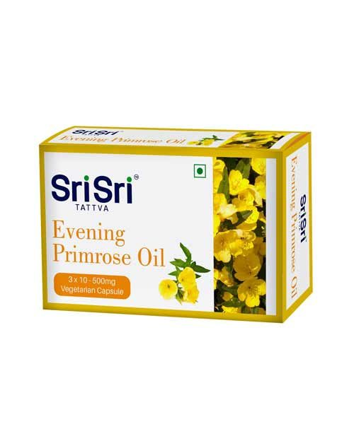 Sri Sri Ayurveda Evening Primrose Oil in Veg Capsules 500 MG