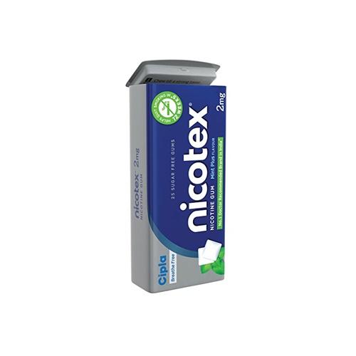 NICOTEX-2MG CHEWING GUM TIN - MINT PLUS