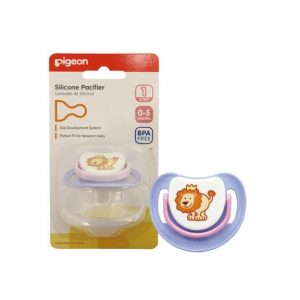 pigeon silicone pacifier lion