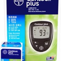 BAYER CONTOUR PLUS BLOOD GLUCOSE MONITORING SYSTEM WITH 25 STRIP