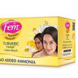 fem turmeric herbal fairness cream bleach