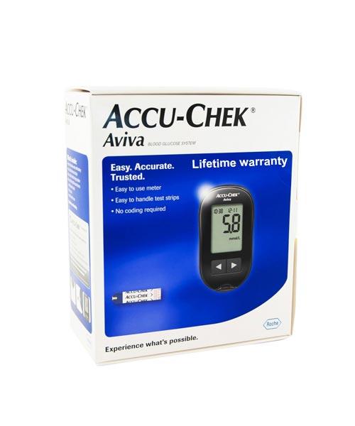 ACCU- CHEK  Aviva Blood Glucose Meter with 10 Strips Free