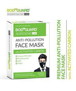 Bodyguard Anti Pollution Face Mask with Activated Carbon, N99 + PM2.5 for Men and Women