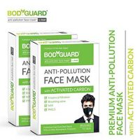 Bodyguard Anti Pollution Face Mask with Activated Carbon, N99 PM2.5 (Pack of 2)