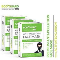 Bodyguard Anti Pollution Face Mask with Activated Carbon, N99 PM 2.5 (Pack of 3)