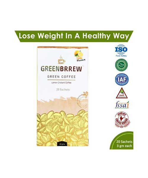 Greenbrrew Green Coffee Lemon Unroasted Coffee
