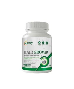 Nutrafy Hair Grow+ Revolutionary Hair Grow Formula To Prevent Hair Loss And Stimulate Hair Follicles To Stop Hair Loss And Regrow Hair - 60 Veg Capsules (Pack of 1)