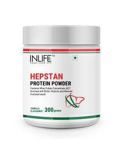 INLIFE Hepstan Protein Powder Liver Support Supplement Whey Protein Vitamins Minerals BCAAs – 300 Grams (Vanilla)