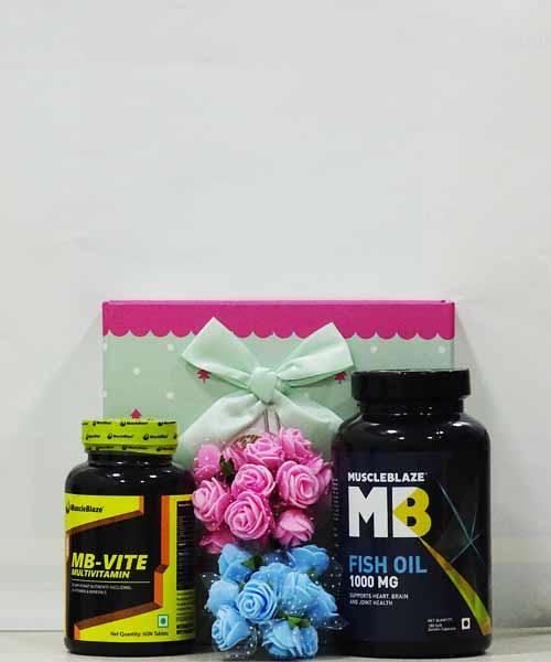 Muscleblaze MB Vite Tablet with Fish Oil Gift Hamper