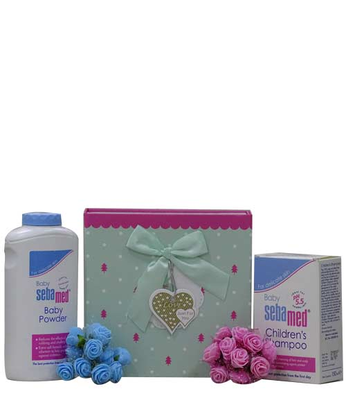 Sebamed Baby Powder with Children Shampoo Gift Hamper