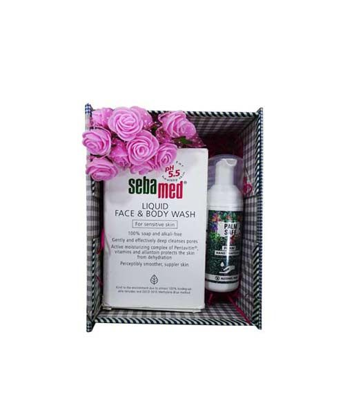 Skin Care Sebamed Liquid Face & Body Wash and Palm Safe Sanitizer (200ML & 60ML)