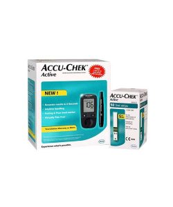 Accu-Chek Active Blood Glucose Meter Kit with 50 extra Active Strips