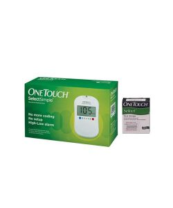 OneTouch Select Simple Glucometer Device (10 Test strips Box Free)