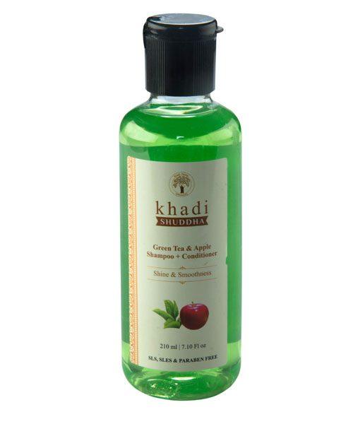 _0002_Khadi Shuddha Green Tea Apple Shampoo+Conditioner