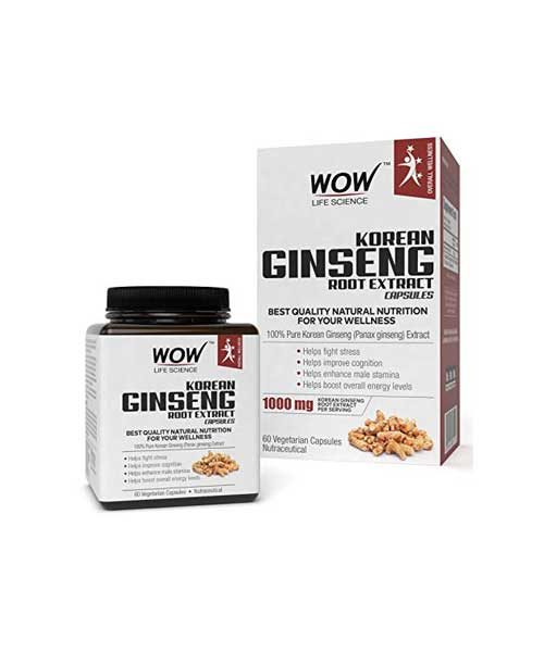 WOW-Korean-Ginseng-Root-Extract-Capsules-100%-Pure-Korean-Ginseng-Extract-1000mg-Korean-Ginseng-Root-Extract-60-Vegetarian-Capsules