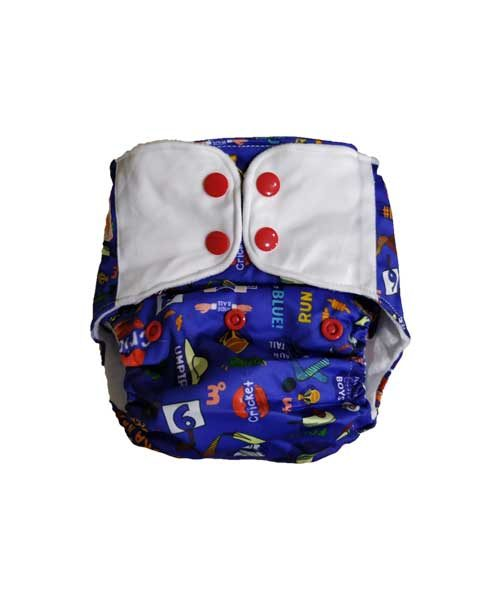 Superbottoms-Plus-UNO-Reusable-cloth-diaper-with-2-Organic-Cotton-dry-feel-soakers-[Day-_-Night-Use]--Doodle-Love