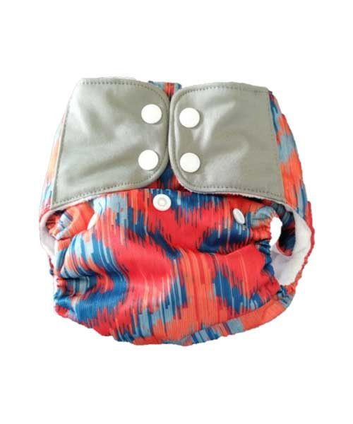 Superbottoms-Plus-UNO-Reusable-cloth-diaper-with-2-Organic-Cotton-dry-feel-soakers-[Day-_-Night-Use]--Ikat-Love