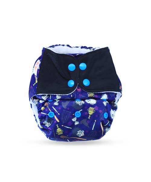 Superbottoms-Plus-UNO-Reusable-cloth-diaper-with-2-Organic-Cotton-dry-feel-soakers-[Day-_-Night-Use]--Mischief-Managed