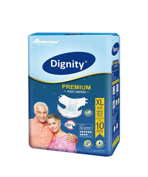 Dignity-Premium-Adult-Diaper-Extra-Large-10-Pcs,-Waist-Size-48-57