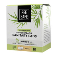 Pee Safe 100% Organic Cotton, Biodegradable Sanitary Pads