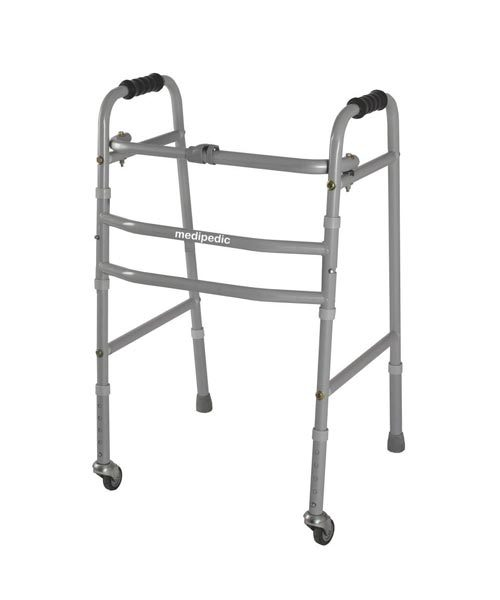 Vissco-Medipedic-Walker-with-Rotating-Castor-Double-Bar