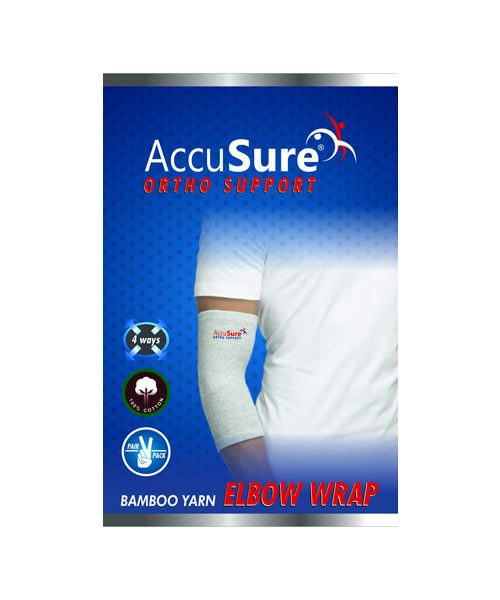 AccuSure-Bamboo-Yarn-Elbow-Support