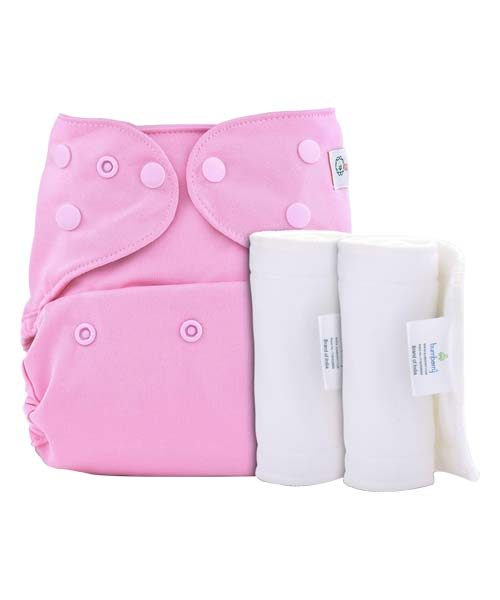 BUMBERRY COVER DIAPER (PINK) + 2 WET FREE INSERT