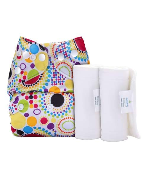 BUMBERRY COVER DIAPER (RETRO PRINT) + 2 WET FREE INSERT