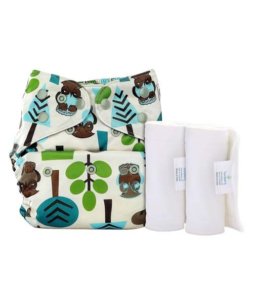 BUMBERRY COVER DIAPER (TREES) + 2 WET FREE INSERT