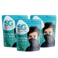 SG Health Unisex Anti Pollution Mask – Pack Of 3