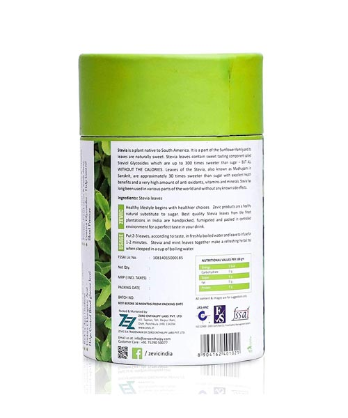 Zevic Stevia Handpicked Leaves 50gm