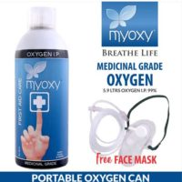 MyOxy Portable Oxygen Can with an External Mask