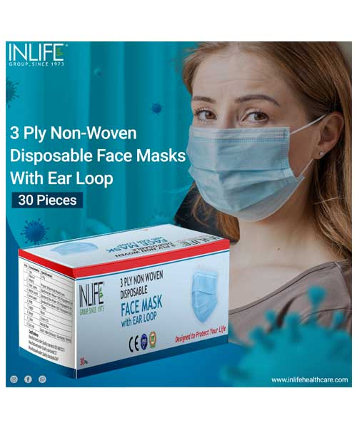 inlife 3 ply mask