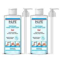 INLIFE Gel Based Hand Sanitizer 70% Alcohol (Pack of 2)