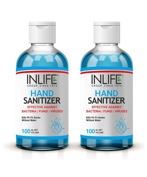 INLIFE 70% Alcohol Based Hand Sanitizer (Pack of 2)