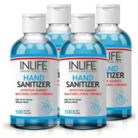 INLIFE 70% Alcohol Based Hand Sanitizer (Pack of 4)