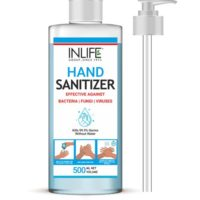 INLIFE 70% Alcohol Based Hand Sanitizer with Pump Cap (Pack of 2)
