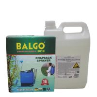 Balgo Manual Sanitizing Pump with Sodium Hypochlorite Combo