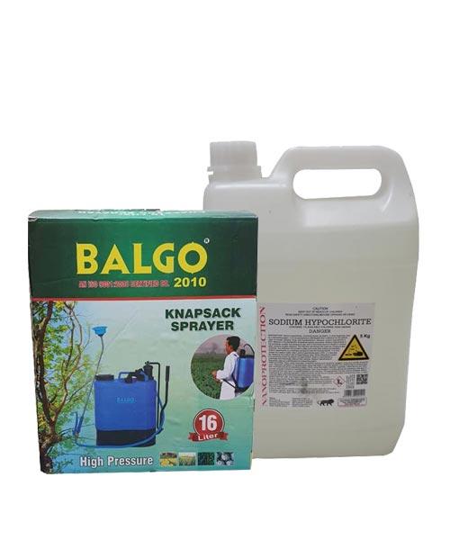 Balgo Manual Sanitizing Pump with Sodium Hypochlorite Combo
