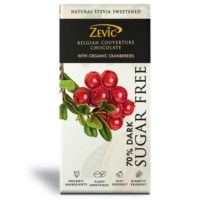 Zevic Belgian Couverture Organic Cranberries Chocolate