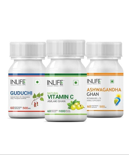 INLIFE Natural Immunity Boosters for Adults Essential Kit Combo