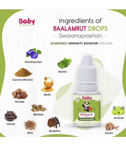 BabyOrgano BaalAmrut Swarnaprashan Drop
