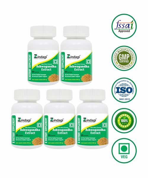 Zindagi-Ashawgandha-Capsules---Dietery-Food-Suppliment---60-Capsules-(Pack-of-5)