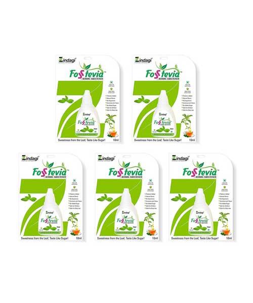 Zindagi-Fosstevia-Liquid-(10ml)---Natural-Sweetners-of-Stevia---Diabetic-Care-(-Pack-of-5)