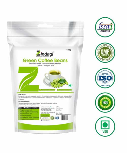 Zindagi-Green-Coffee-Beans-(400gm)---Natural-Coffee-beans-for-Weight-Loose---Diabetic-Care