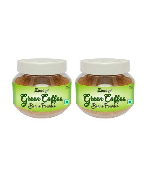 Zindagi-Green-Coffee-Beans-Powder-(100gm)---Natural-coffee-beans-Powder---Diabetic-and-Weight-loose-(-Pack-of-2)
