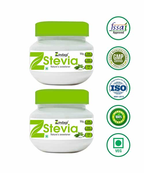 Zindagi-Stevia-Powder-(50gm)---Natural-Sweetners---For-Diabetic-Use---SugaR-Free-(-Pack-Of-2)