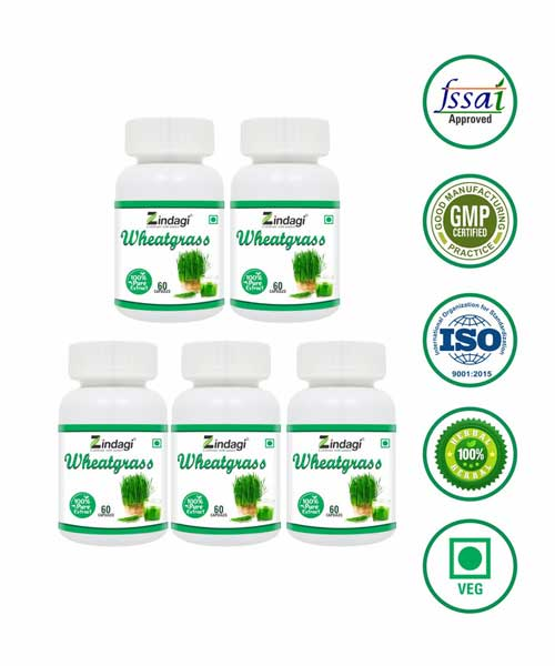 Zindagi-Wheatgrass-Capsules---Dietery-Food-Suppliment---60-Capsules-(Pack-of-5)