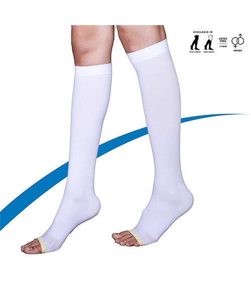Sorgen-Below-Knee-Anti-Embolism-DVT-Stockings,-(Small),-White,-1-Pair-2